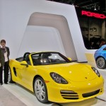 This yellow 2014 Porsche Boxster catches the eye of WWW Editor-in-Chief, Susan Frissell.