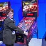WWW Editor in Chief, Susan Frissell enters a bonus round on Stern Gaming's new pinball machine commemorating 50 years of the Ford Mustang.