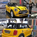 The larger 2015 Mini Cooper, with friendlier instrumentation and a turbo-charged THREE (3) cylinder gas engine developing more power than the outgoing inline-4.