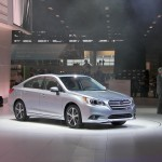 World Premiere of the re-designed 2015 Subaru Legacy, the only mid-size family sedan to feature standard All-Wheel Drive and boxer design gasoline engines.