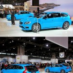 The upcoming Polestar tuned Volvo S60 and V60 wagon, in Swedish flag blue, responds to performance oriented Teutonic small executive rivals with 345hp /369 lb-ft and advanced torque-vectoring all-wheel drive.