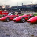 Several Maserati 250s taken at 1957 British Grand Prix